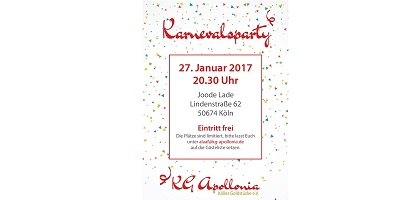 Karnevalsparty am 27. Januar 2017